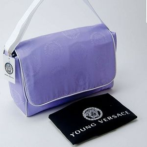 Versace Accessories - Young Versace Medusa Logo Diaper Messenger Bag